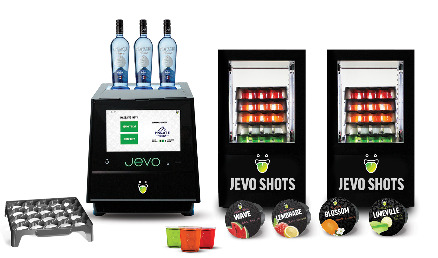 JEVO, the world's first automated gelatin shot maker