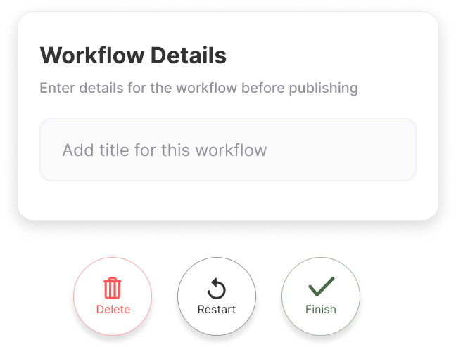 Workflow Details Enter details for the workflow before publishing