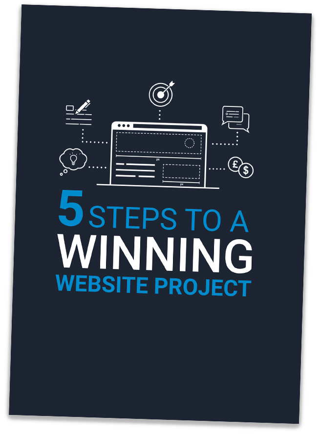 5 steps to a winning website project ebook.