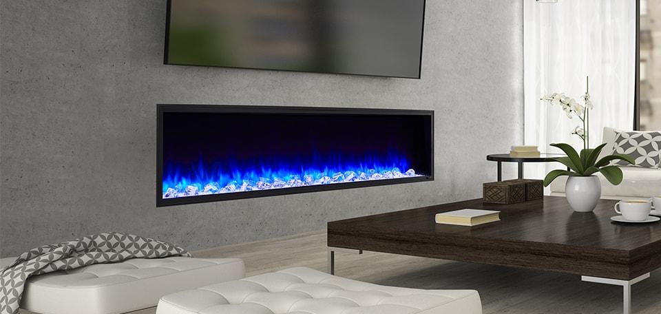 scion blue fireplace