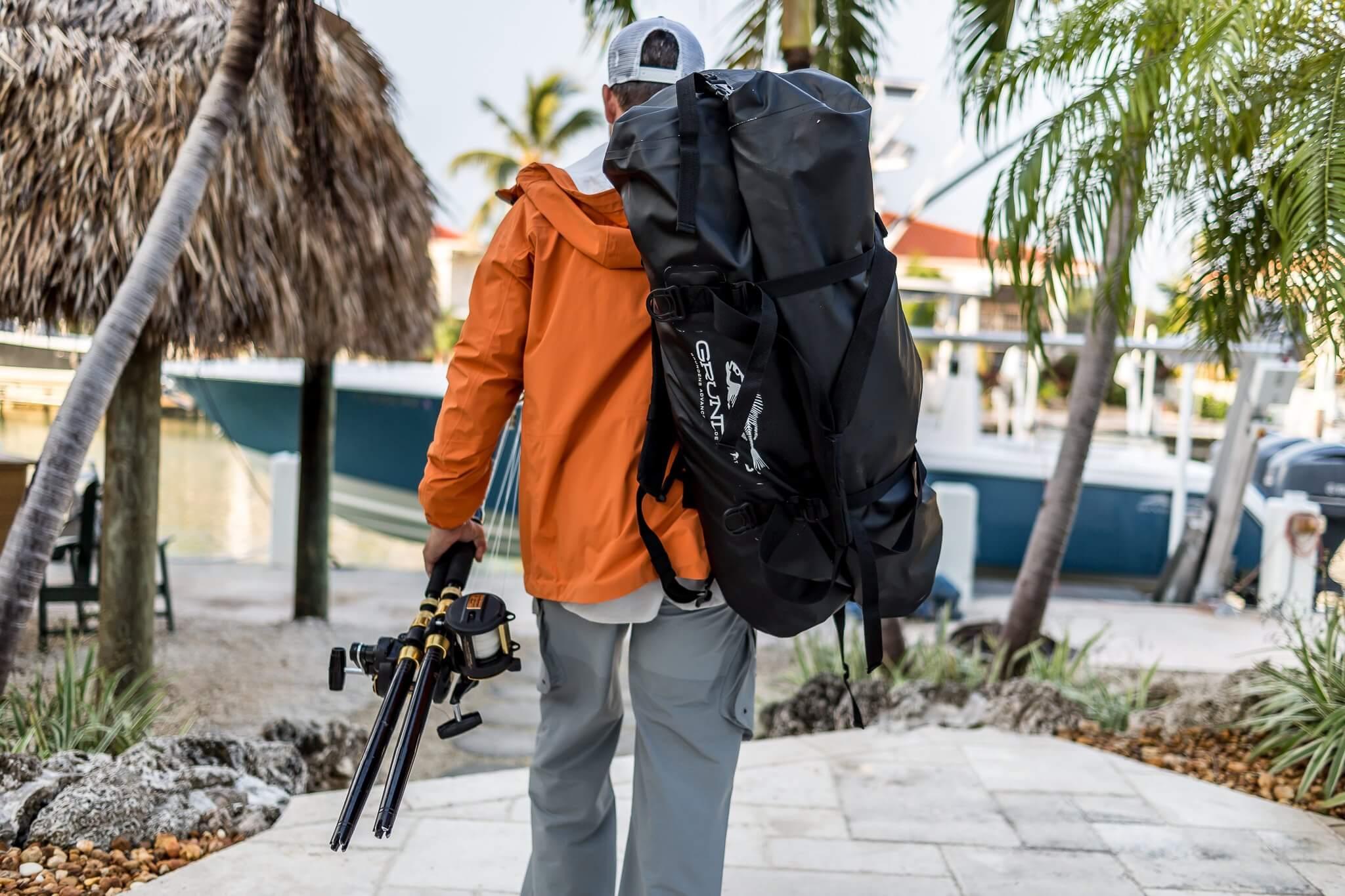 Man wearing technical gear