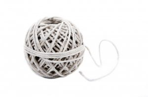 Rope strings used for moving a large area rug