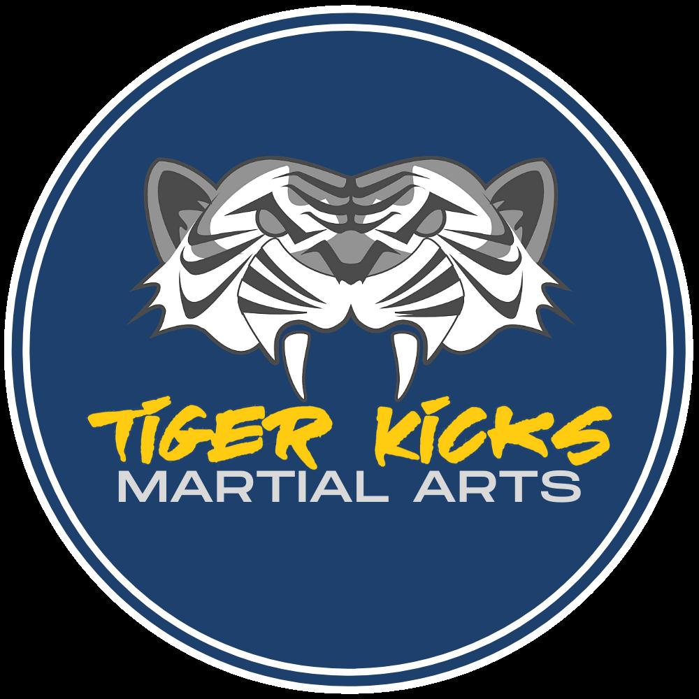 tiger kicks martial arts logo