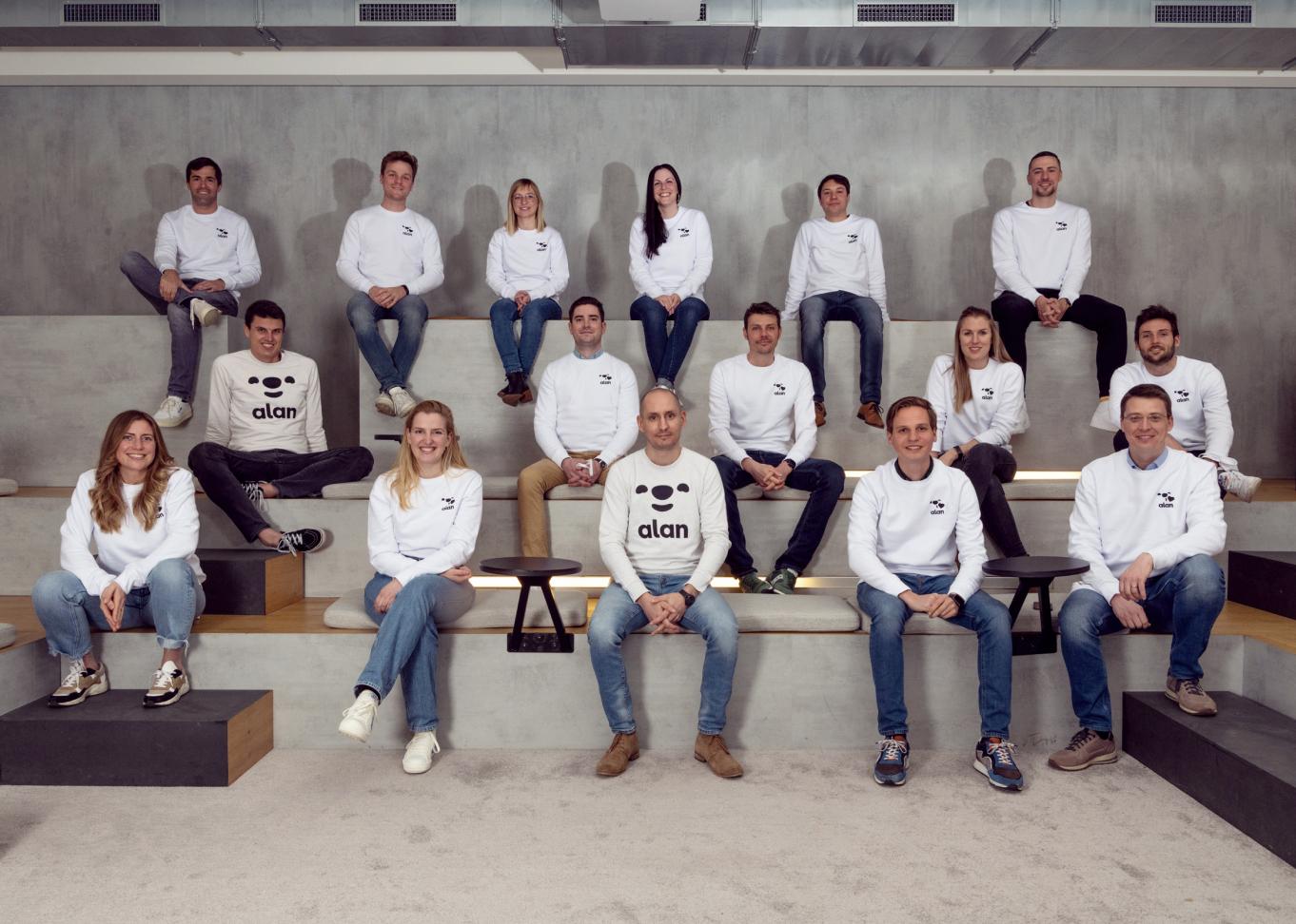 Photo of the Alan belgium team