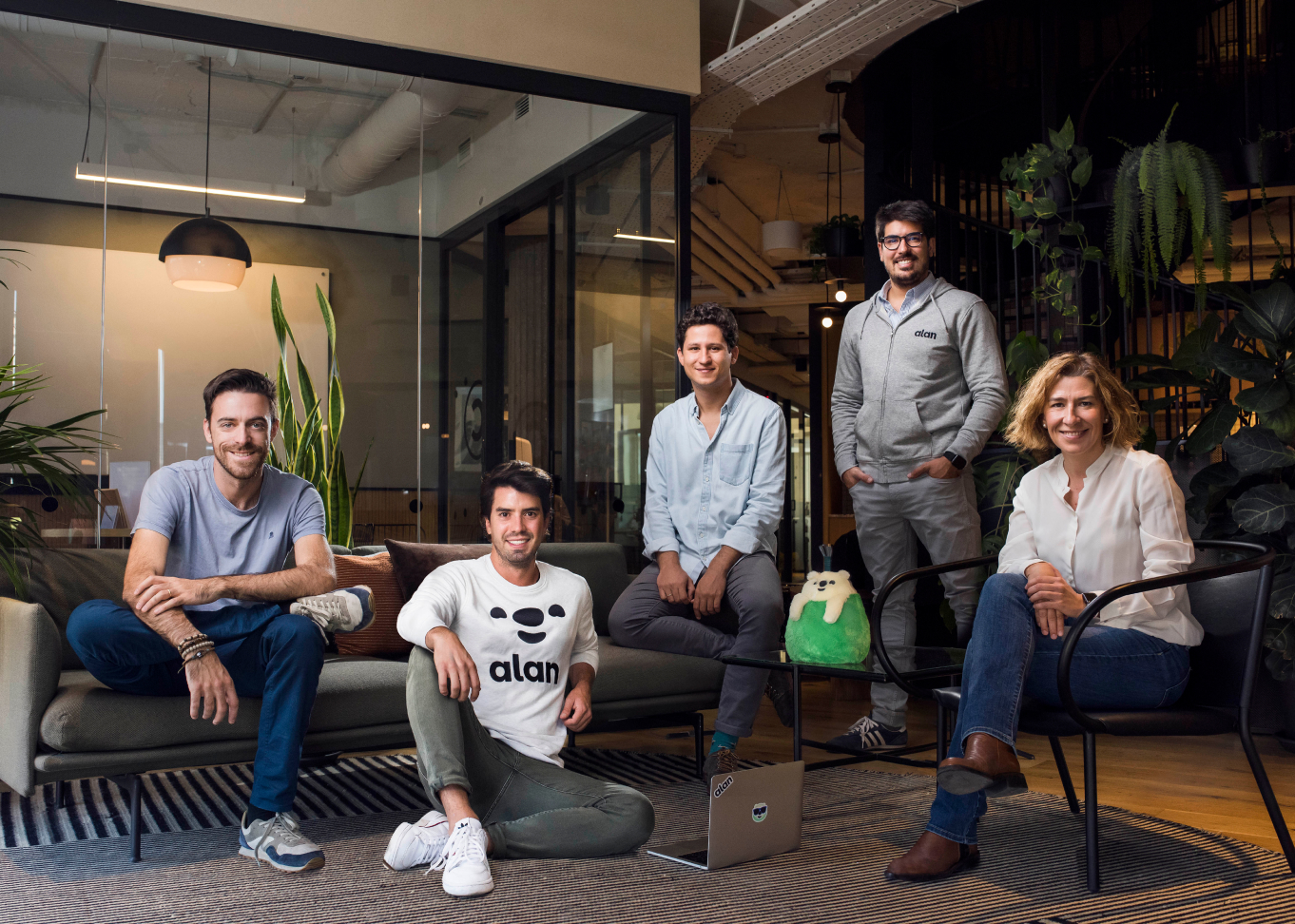 Photo of the Alan spanish team