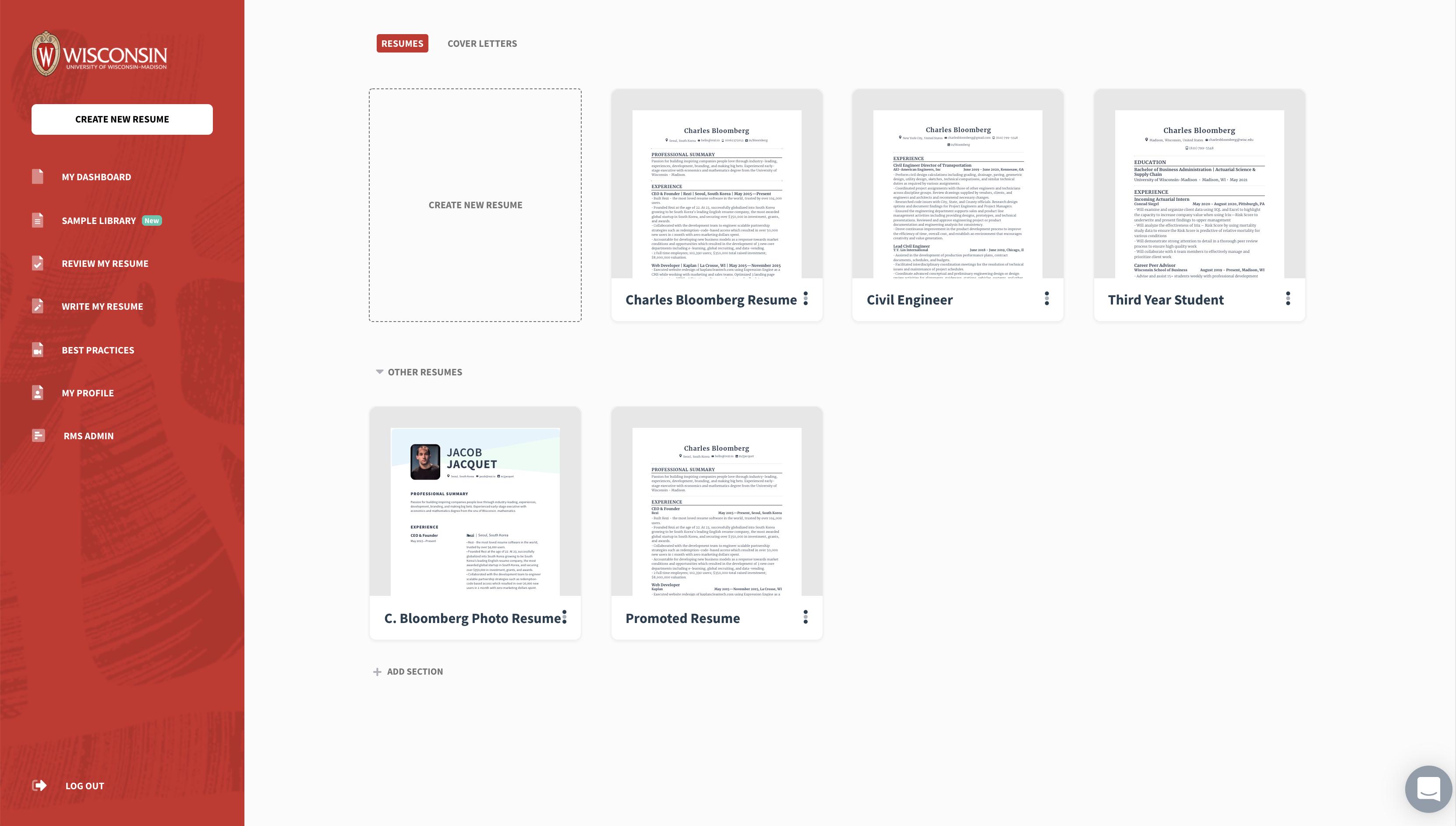 Rezi whitelabel Resume builder