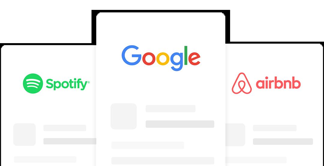 spotify, google and air bnb