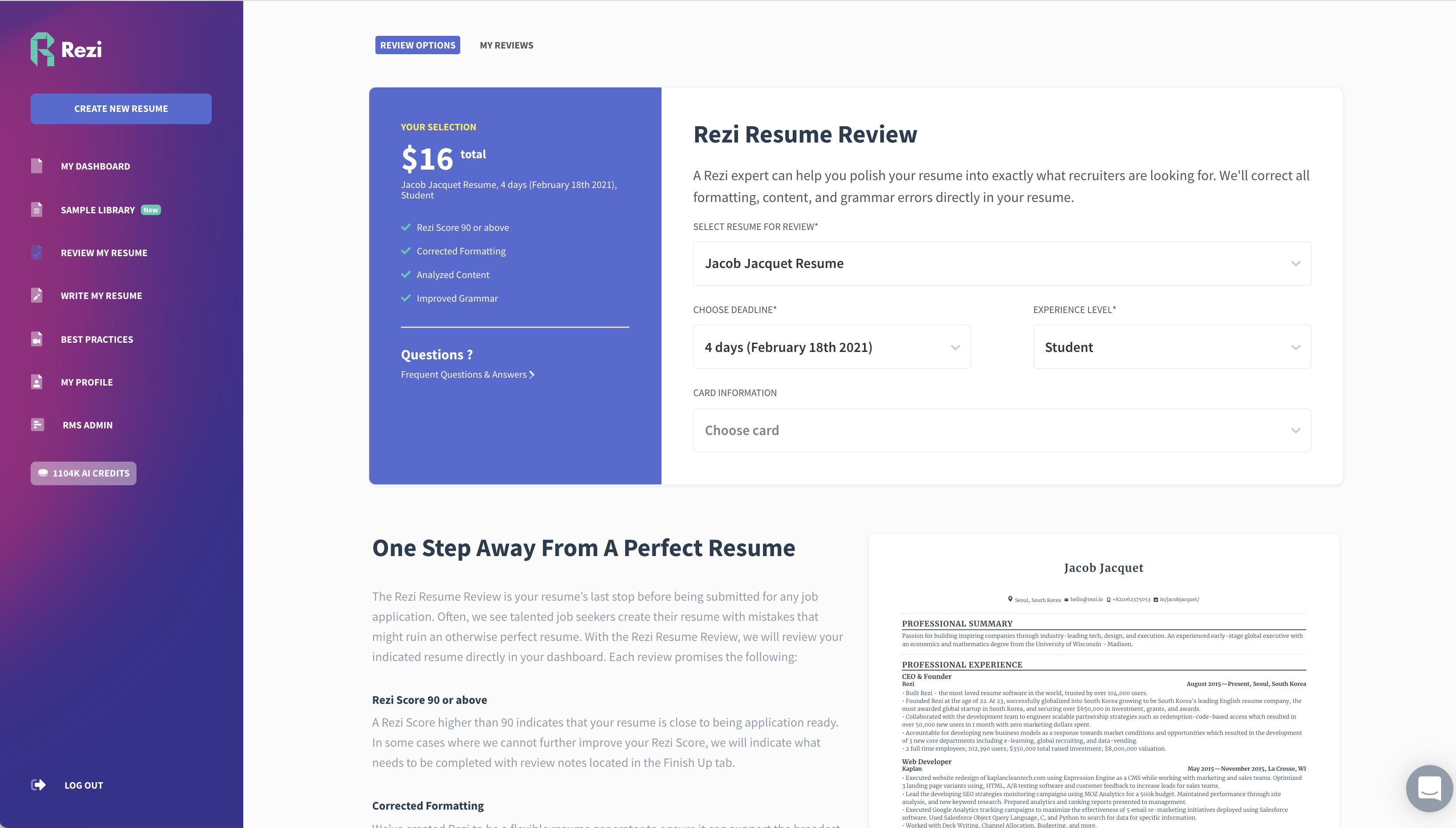 Rezi Resume Review