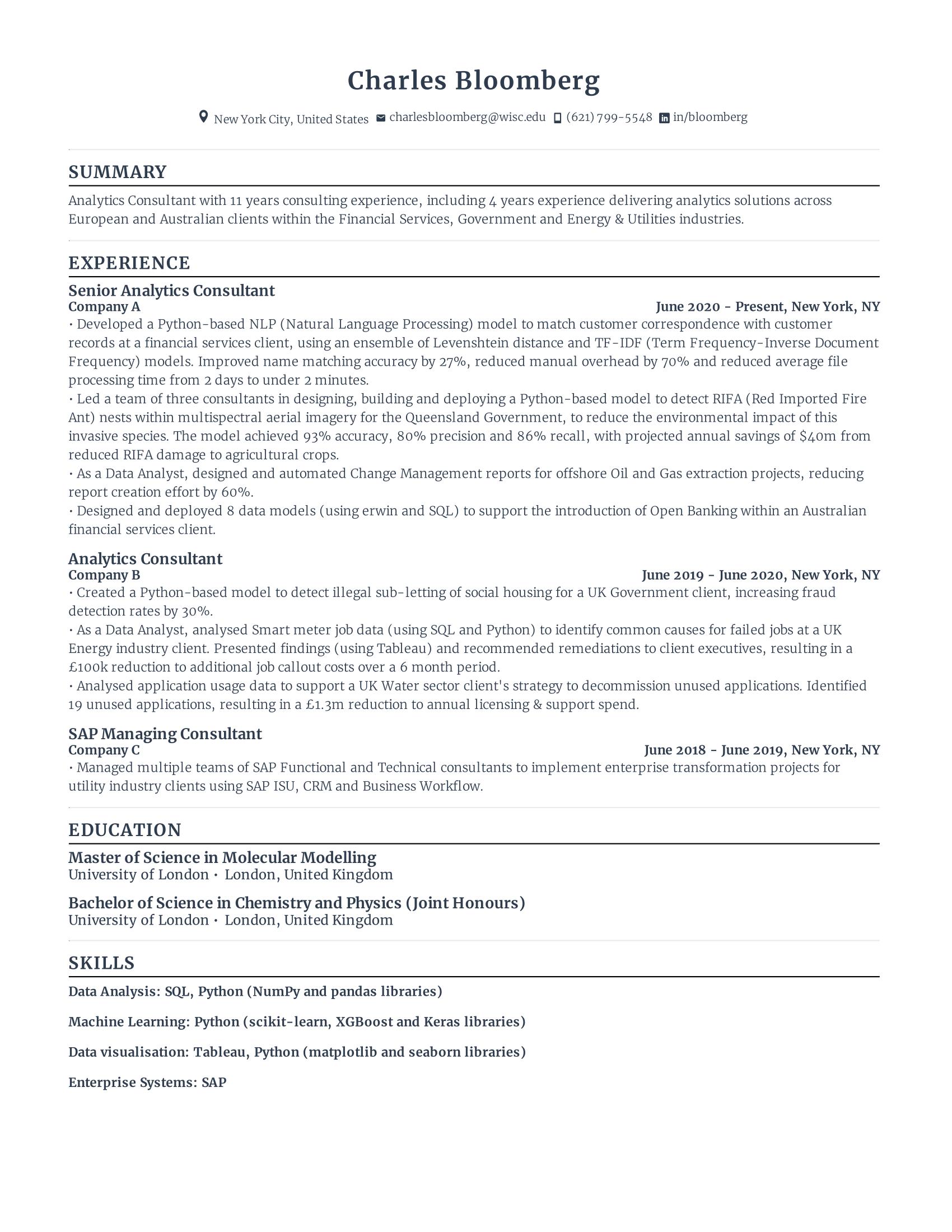 Senior Data Analyst