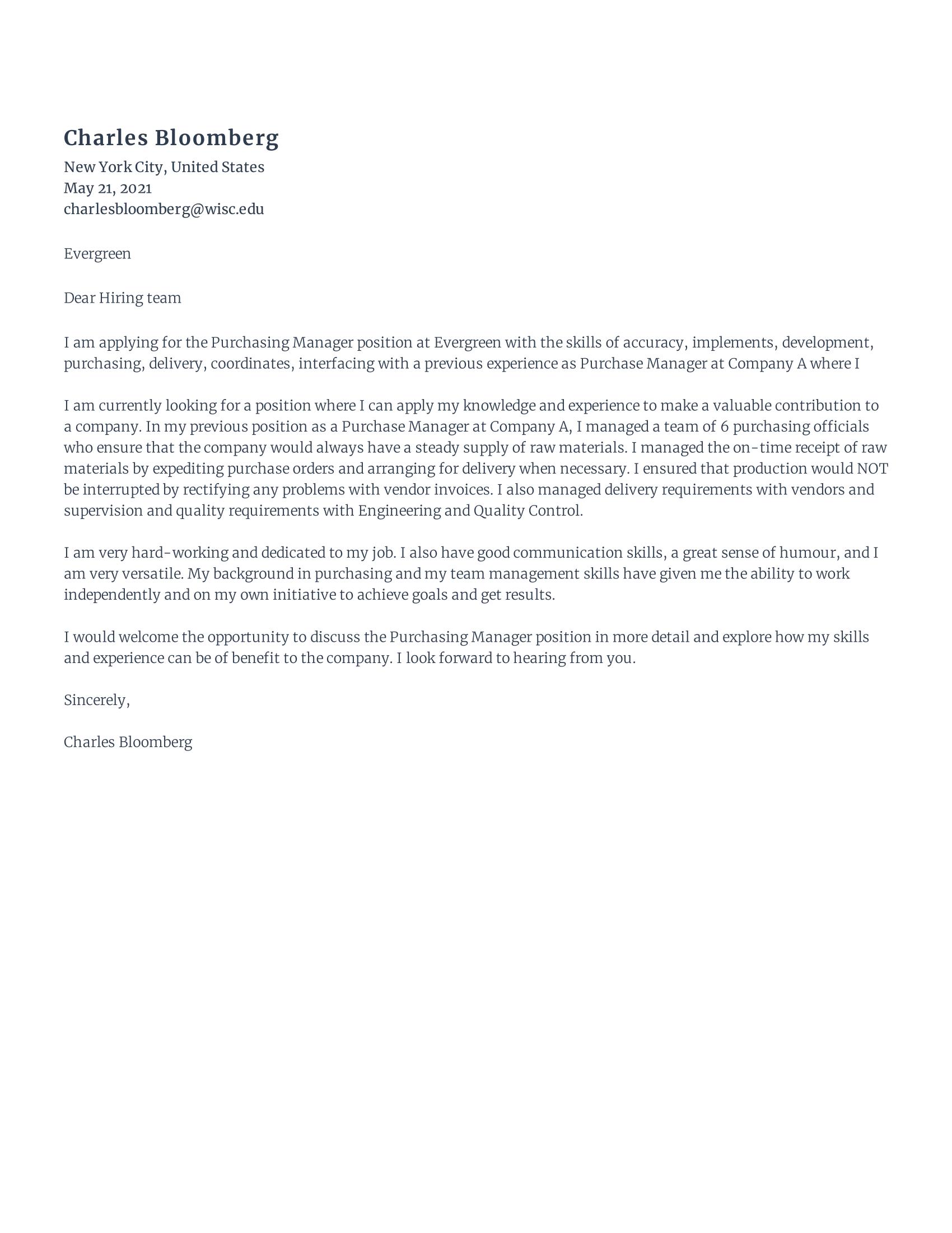 Rezi GPT 20 AI Cover Letter Builder