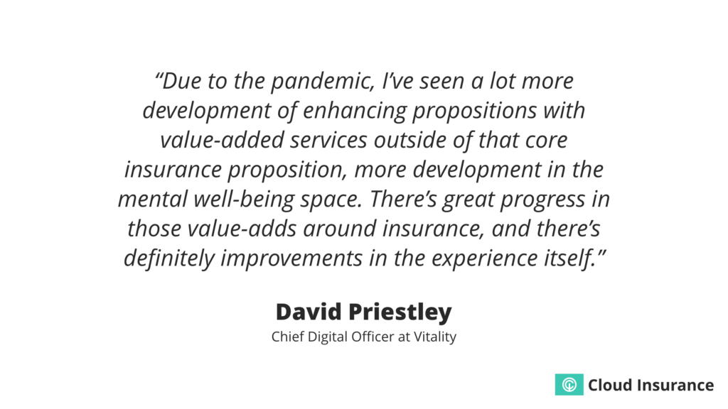 Quote about value-added services in insurance.