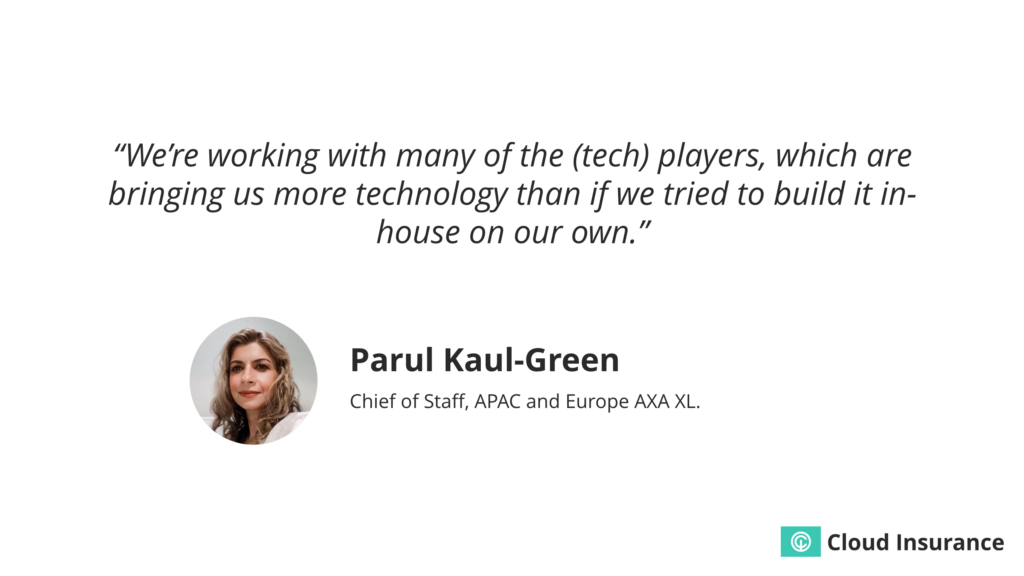 Quote about the benefits of working with insurtech vendors.