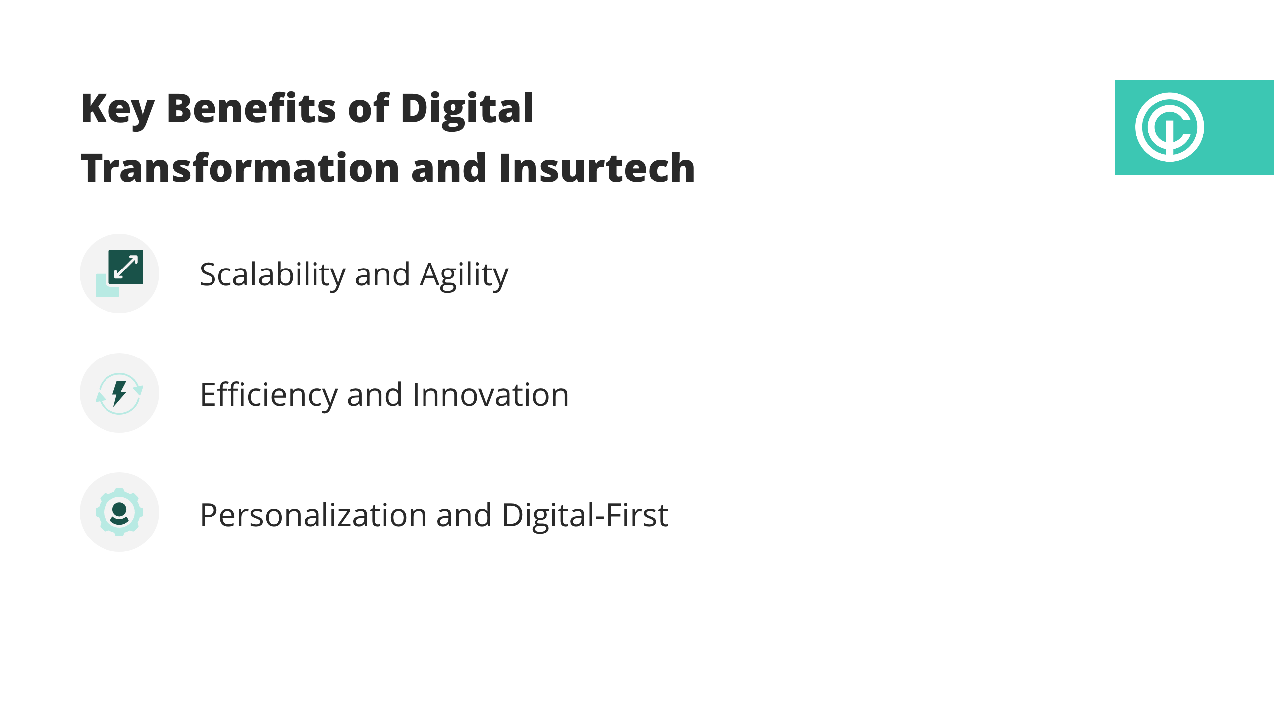 visual of key benefits of digital transformation and insurtech