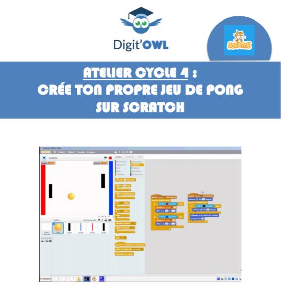 Atelier cycle 4 : Crée ton propre jeu de pong sur scratch