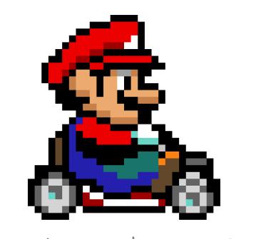 Mario en pixel