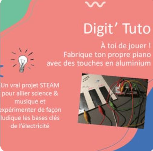 Digit'Tuto - À toi de jouer ! Fabrique ton propre piano avec des touches en aluminium