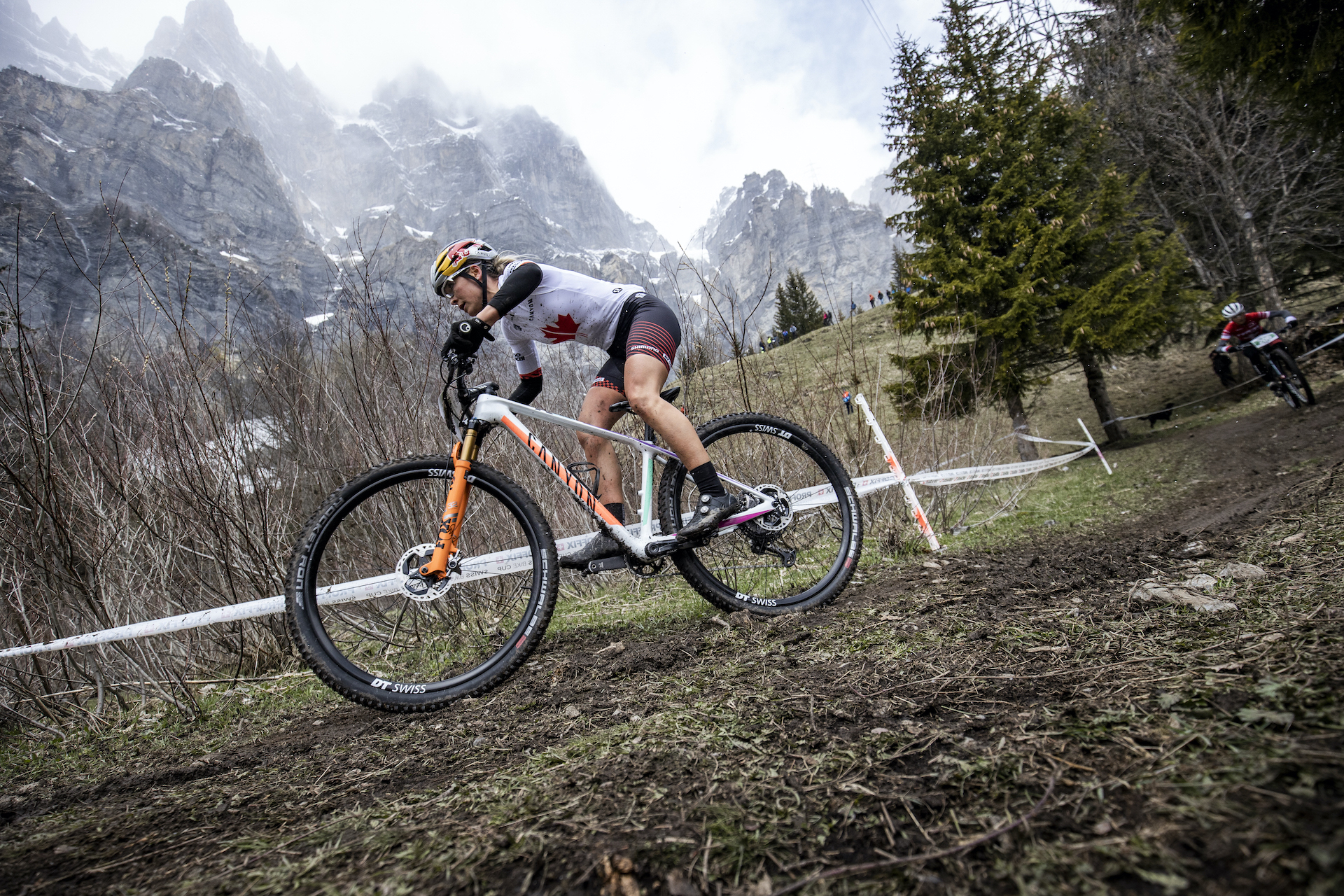 Canyon MTB Racing Launch with Swiss Mountain Bike Cup in Leukerbad Switzerland