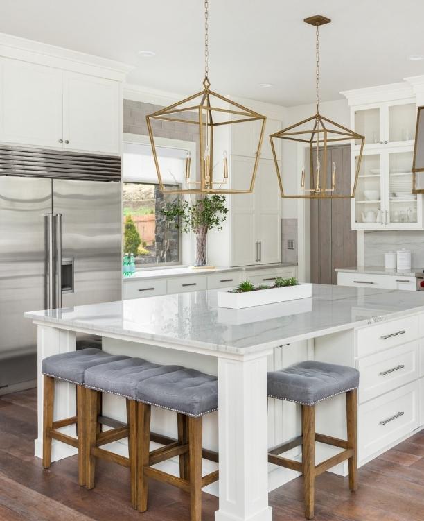 Modern cool kitchen.