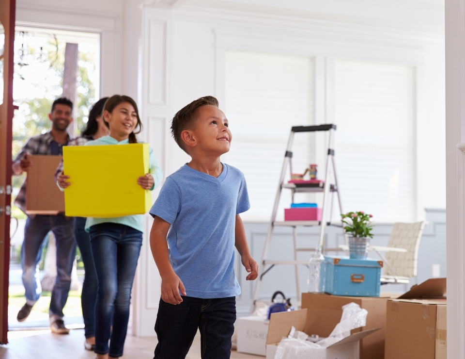 Hispanic family moving in.