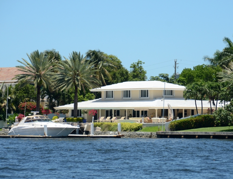 Waterfront home.