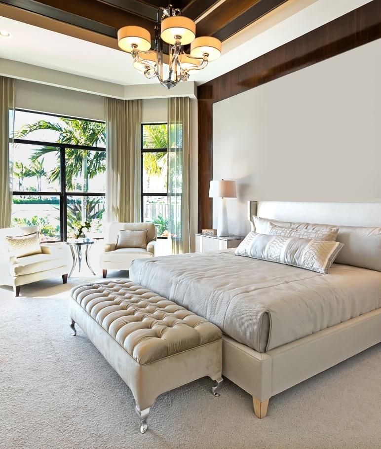 Master bedroom large windows.