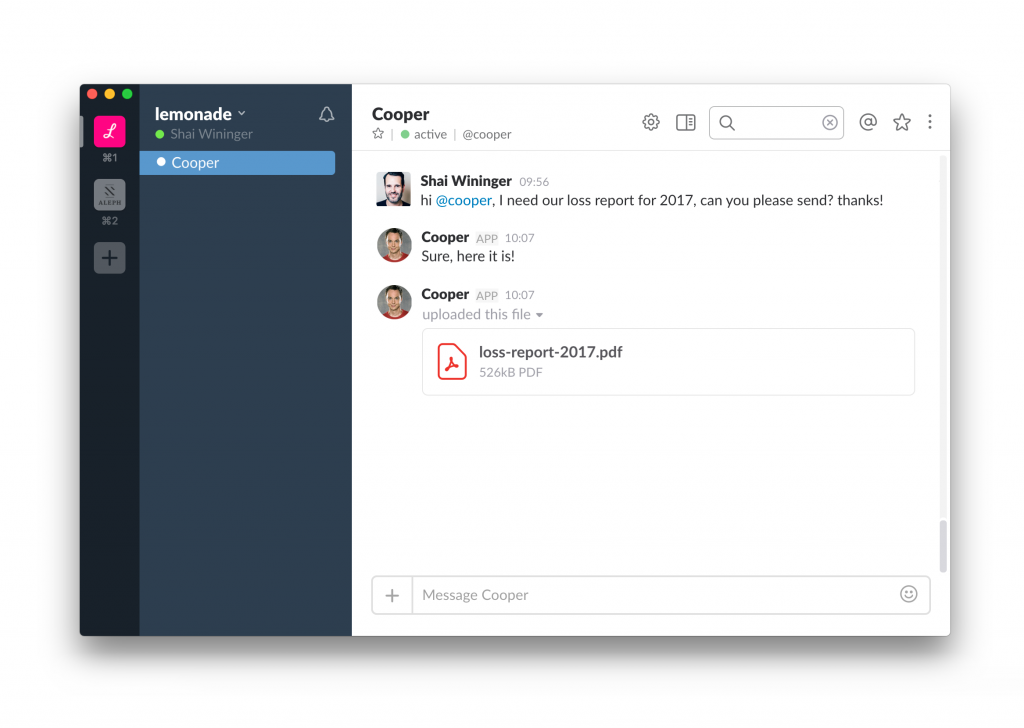 Lemonade's AI Cooper, Internal Workflow Manager
