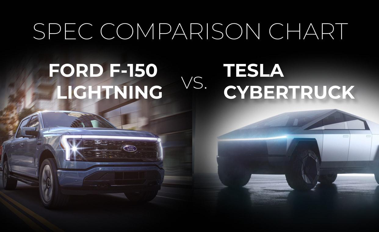 Ford F-150 Lightning vs. Tesla Cybertruck: Spec Comparison Chart