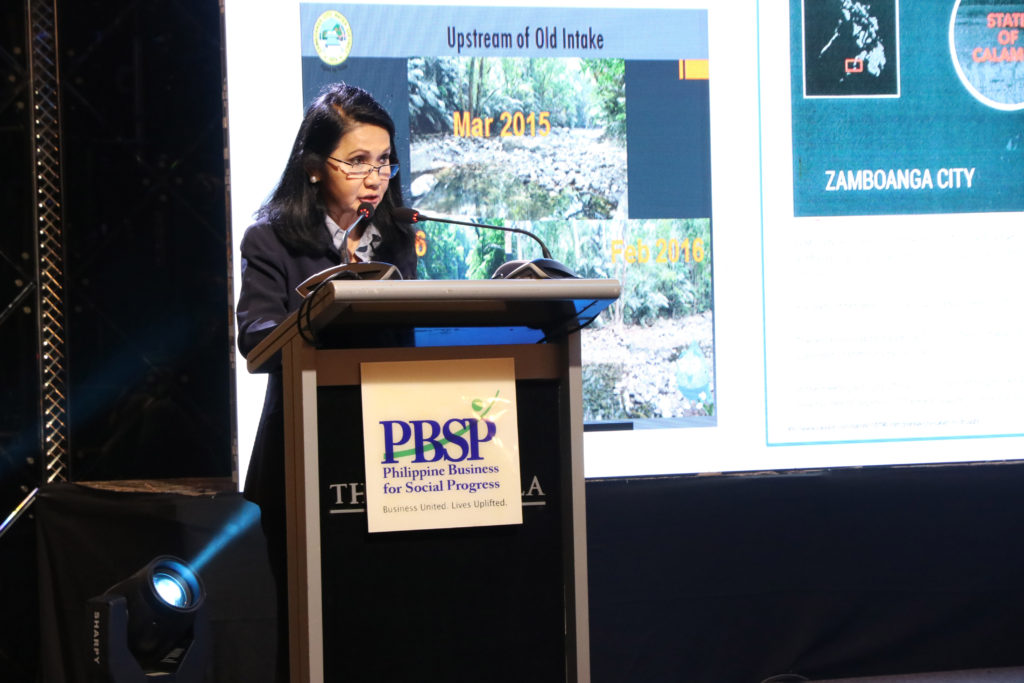 FORMER DENR Secretary and former Presidential Assistant II for Climate Change Elisea 'Bebet' Gozun presents the global and local effects of climate change and how it affects water security.