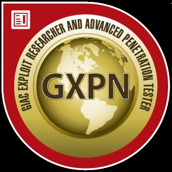 GIAC Exploit Researcher and Advanced Penetration Tester (GXPN)