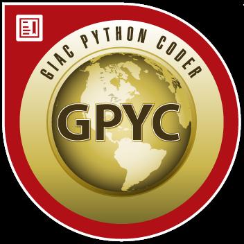 GIAC Python Coder (GPYC)