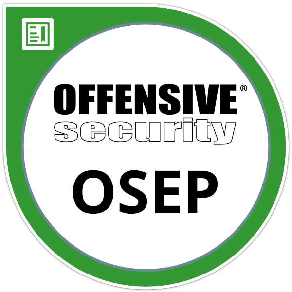 Offensive Security Experienced Penetration Tester certification (OSEP)