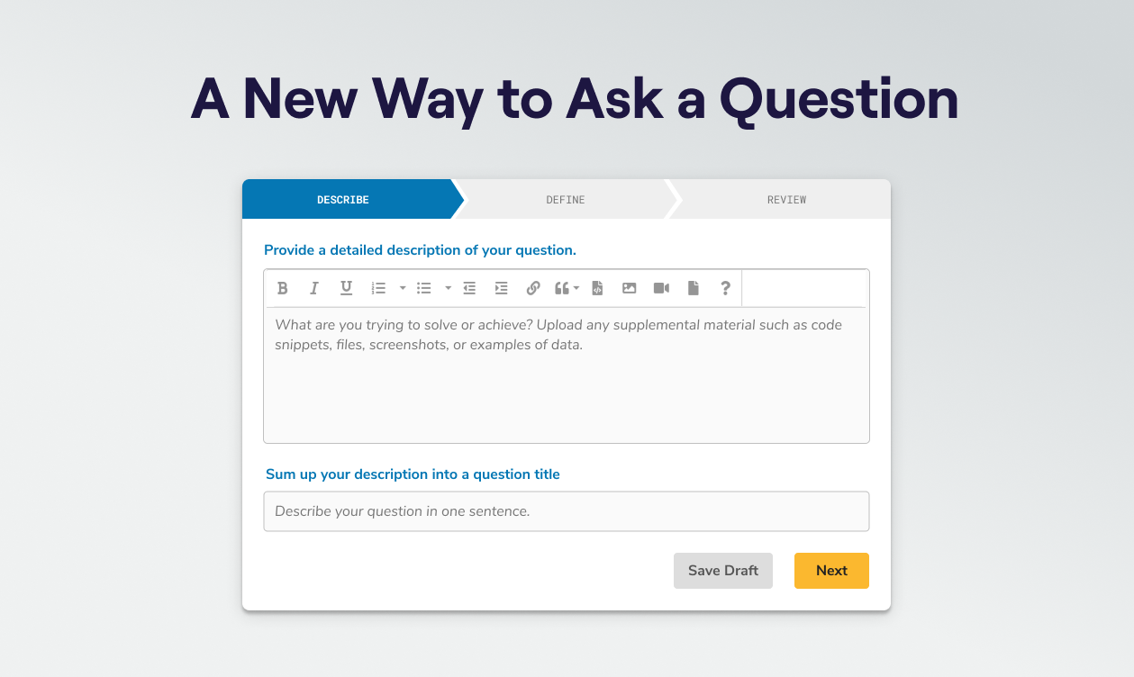 A New Way to Ask a Question Question Display
