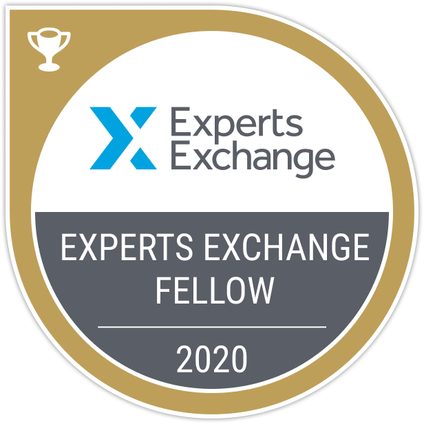 Experts Exchange Fellow Award Badge