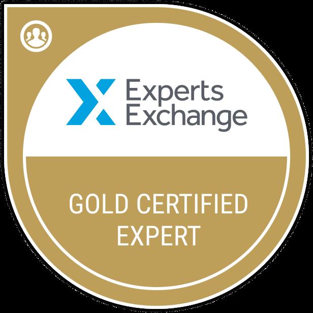 Experts Exchange Certified Expert Badge