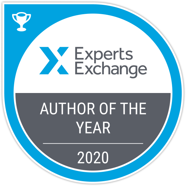 Experts Exchange Author of the Year Badge