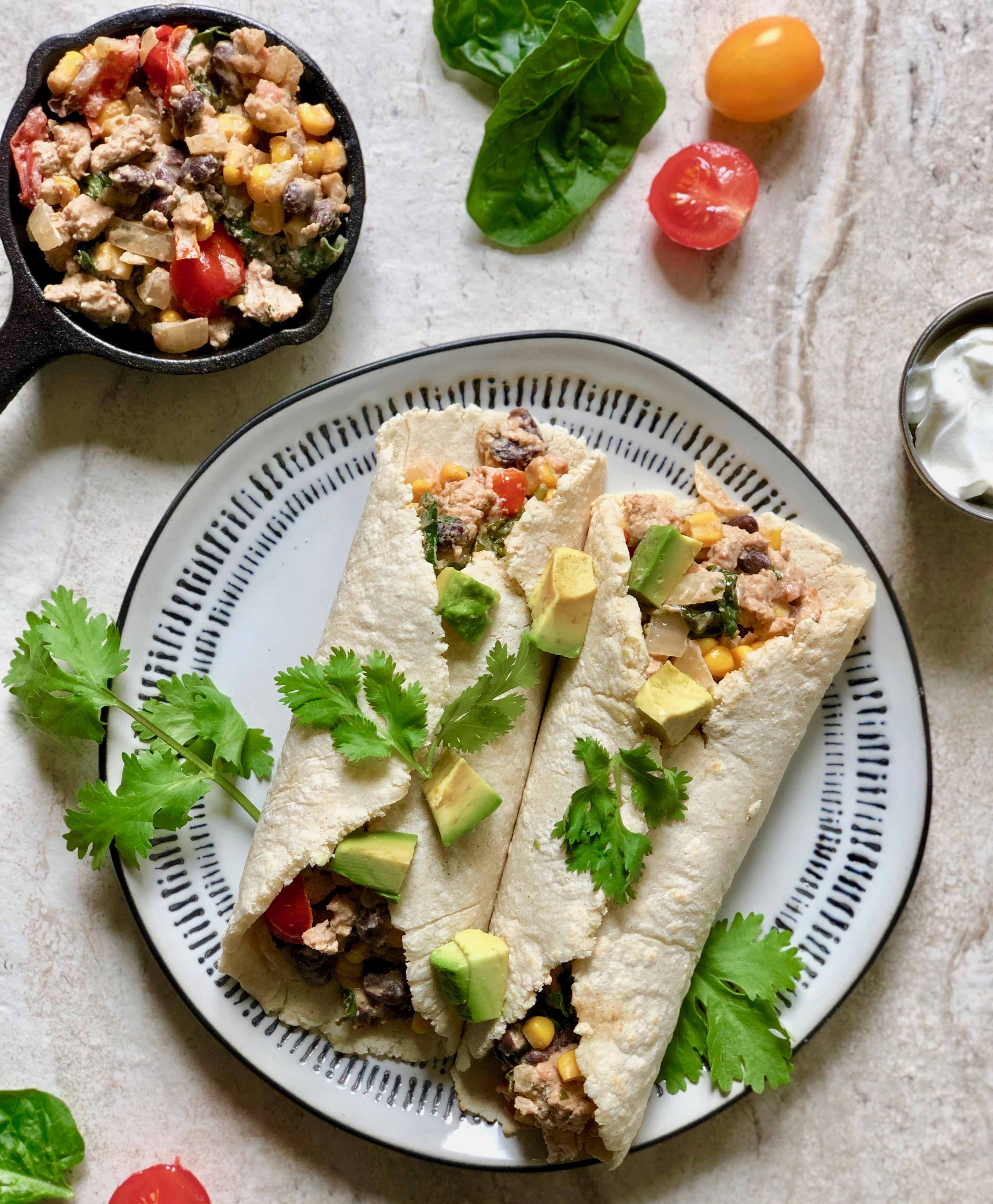 Turkey and Spinach Taquitos