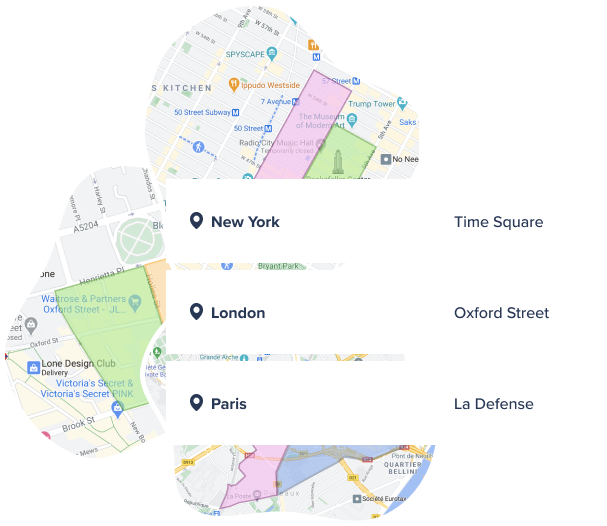 Plan your flyering campaign thanks to technology: map view