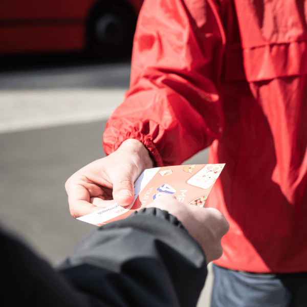 hand to hand flyer distribution