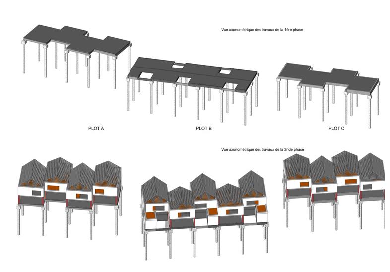 CONSTRUCTION DE 13 LOGEMENTS INDIVIDUELS SOCIAUX EN OSSATURE BOIS PAILLE