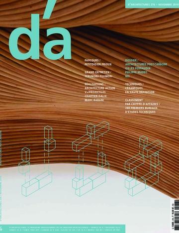 PUBLICATION DANS D'ARCHITECTURES (N°276)