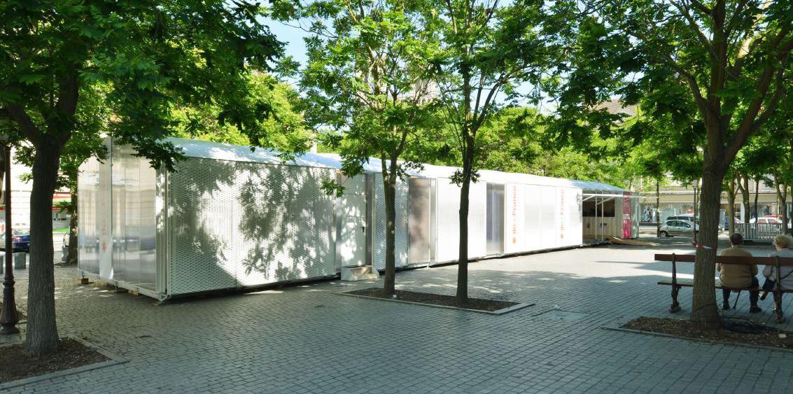 CONSTRUCTION ÉPHÉMÈRE DU MUSÉE PASSAGER POUR LA RÉGION ILE-DE-FRANCE PARIS, FRANCE