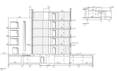 CONSTRUCTION DE 14 LOGEMENTS EN ACCESSION-MUR MITOYEN EN BLOC DE BÉTON DE CHANVRE A VANVES, FRANCE