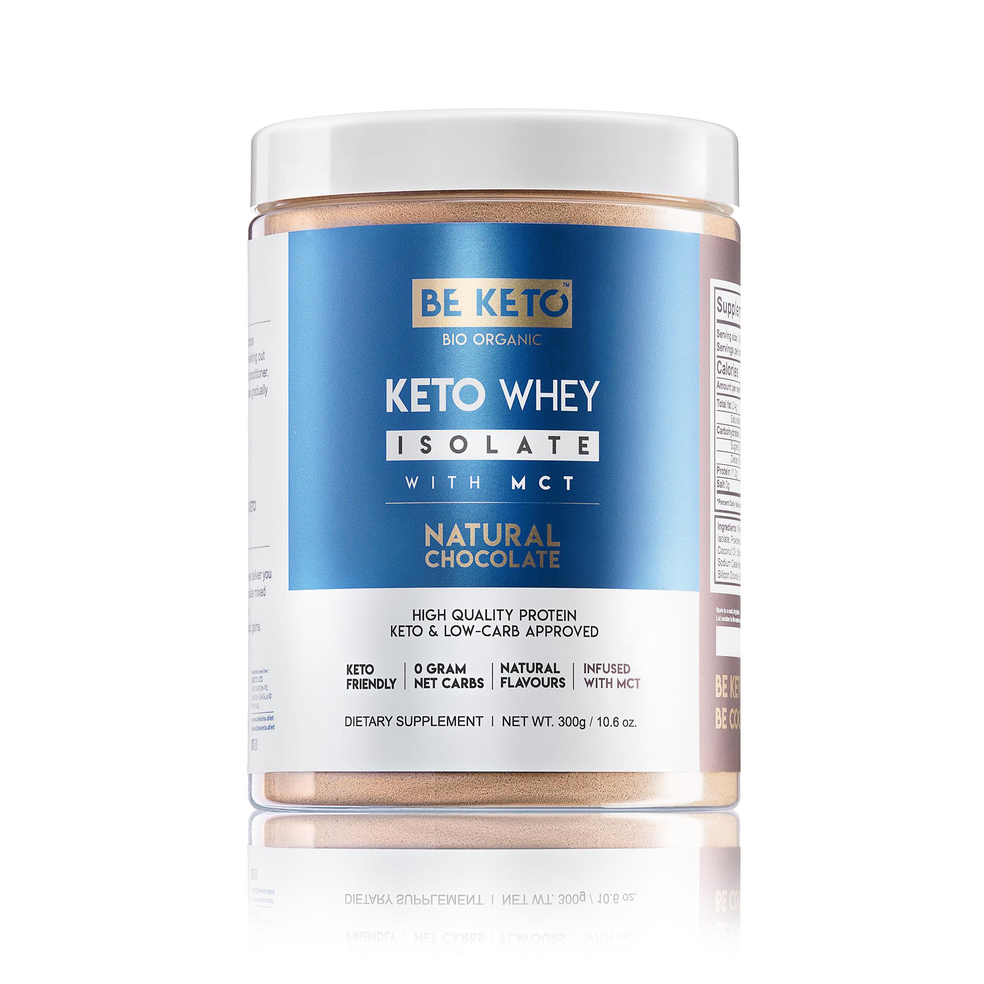 Keto Whey isolate + MCT - Natural Chocolate 300G