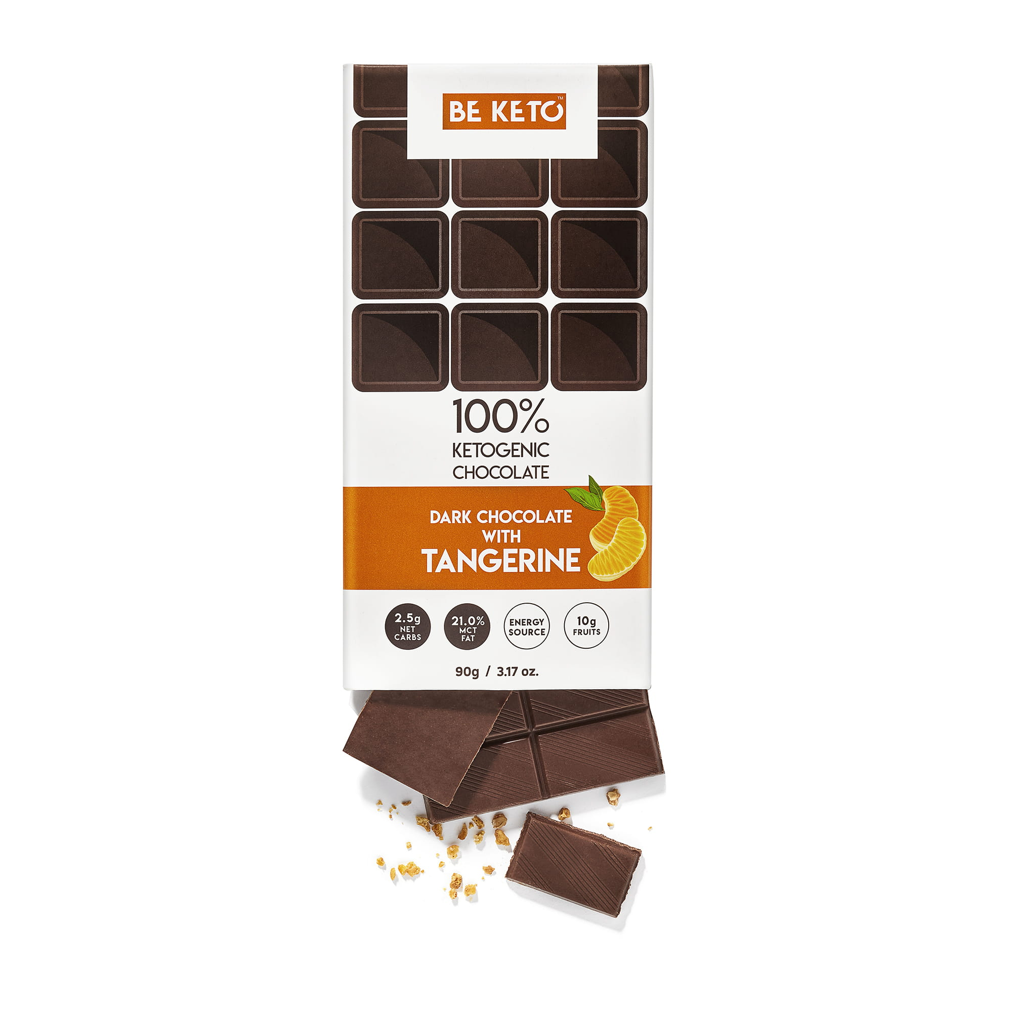 Keto Chocolate + MCT Oil - Tangerine