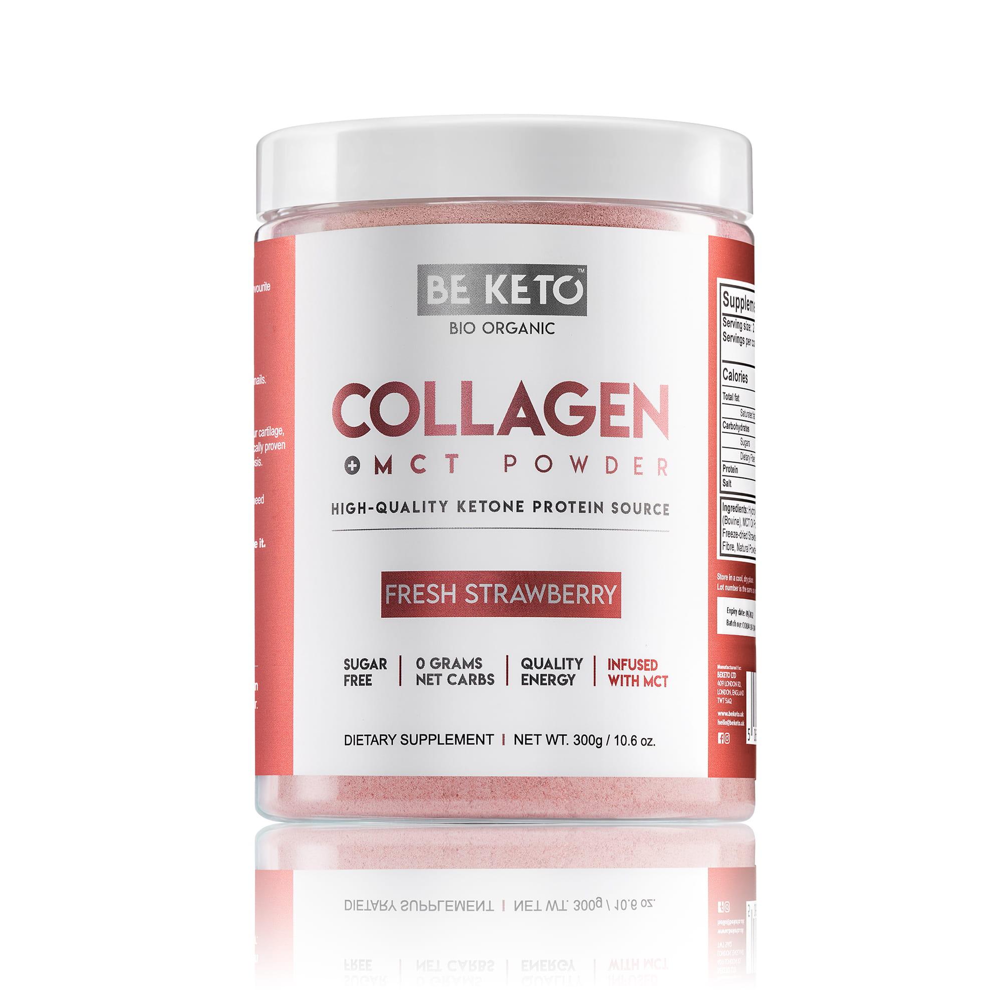 Keto Collagen + MCT Oil - Fresh Strawberry