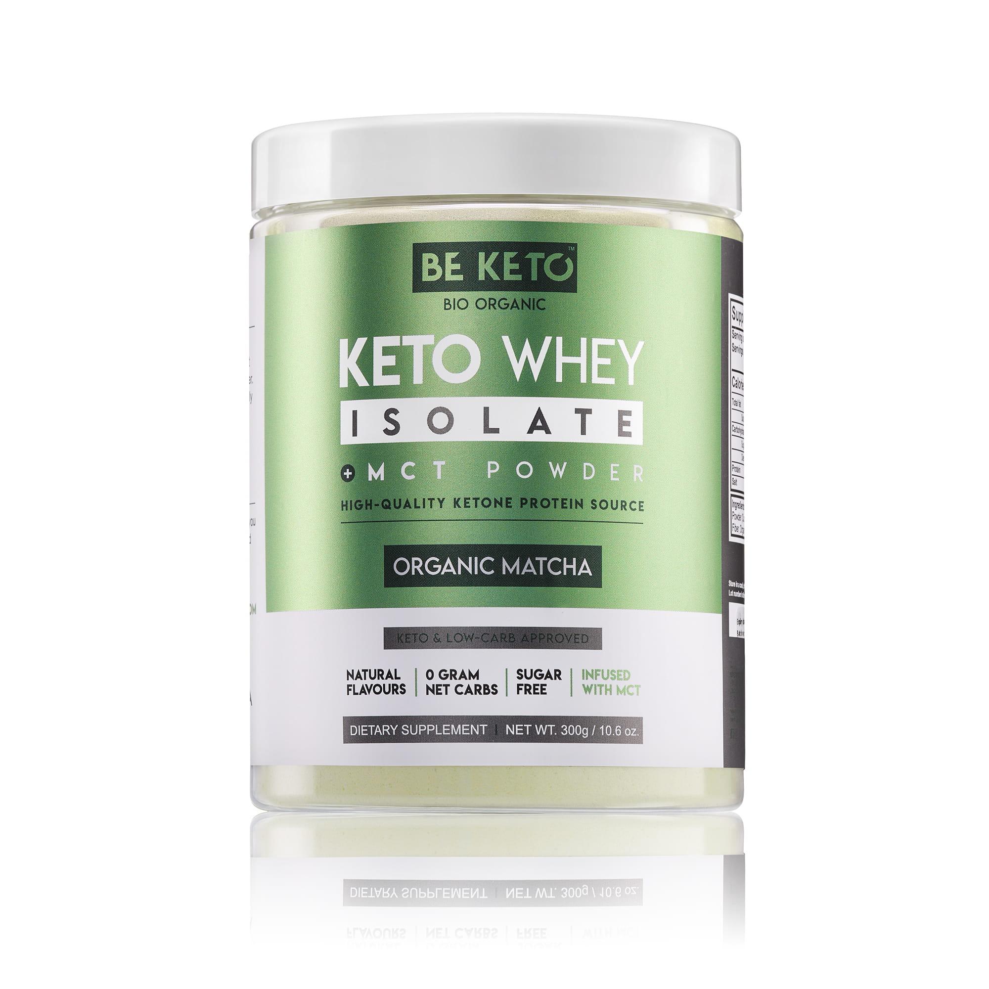 Keto Whey isolate + MCT - Organic Matcha 300G