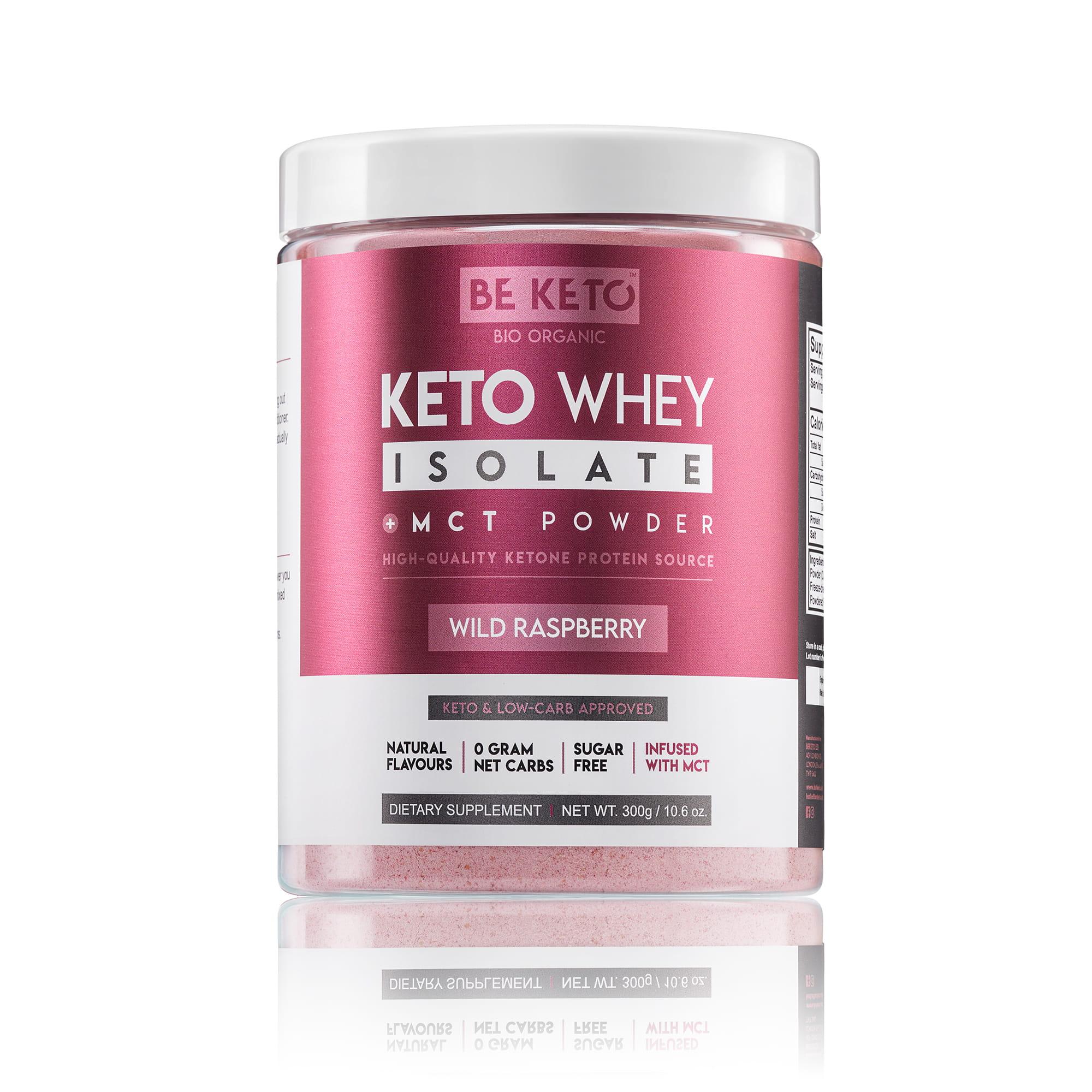 Keto Whey isolate + MCT - Wild Raspberry 300G