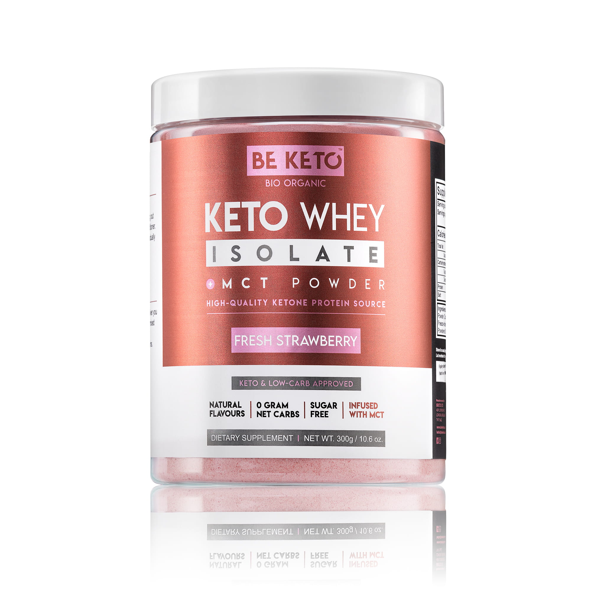 Keto Whey isolate + MCT - Fresh Strawberry 300G