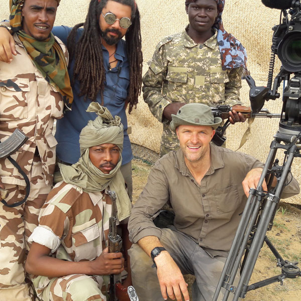 Filming in Chad