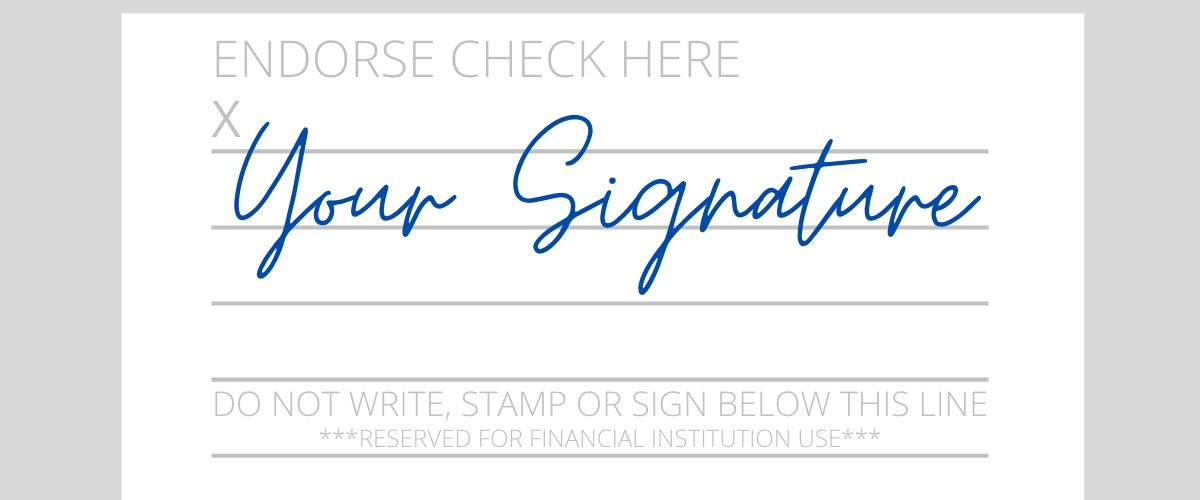 How to Sign a check to cash